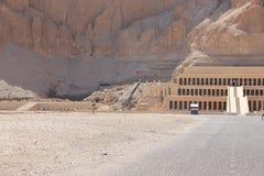 De tempel van Hatshepsut dichtbij Luxor in Egyp Royalty-vrije Stock Afbeelding