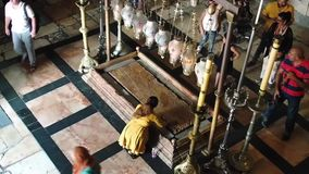 De tempel van Heilig begraaft stock videobeelden