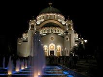 De Tempel van heilige Sava Stock Foto