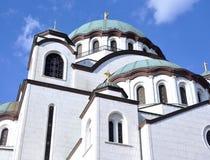 De tempel van heilige Sava in Belgrado, Servië royalty-vrije stock afbeelding