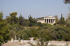 De tempel van Hephaestus Royalty-vrije Stock Afbeeldingen