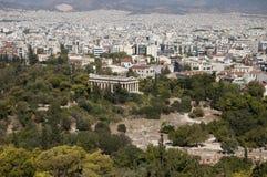De tempel van Hephaestus Royalty-vrije Stock Foto's