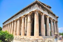 De tempel van Hephaestus in Athene Royalty-vrije Stock Afbeeldingen