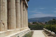De tempel van Hephaestus, Oud Agora van Athene Royalty-vrije Stock Foto's