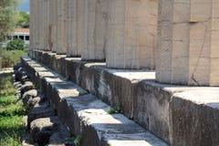 De tempel van Hephaestus, Oud Agora van Athene Stock Afbeelding