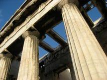 De Tempel van Hephaisteion, Athene Stock Afbeelding