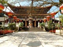 De tempel van het bamboe in Kunming, China royalty-vrije stock foto's