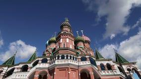 De Tempel van de het Basilicumkathedraal van heilige van Basilicum het Heilige, Rode Vierkant, Moskou, Rusland stock video
