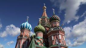 De Tempel van de het Basilicumkathedraal van heilige van Basilicum het Heilige, Rode Vierkant, Moskou, Rusland stock footage