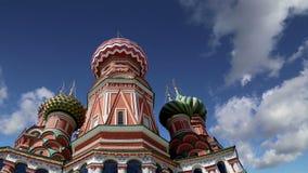 De Tempel van de het Basilicumkathedraal van heilige van Basilicum het Heilige, Rode Vierkant, Moskou, Rusland stock videobeelden
