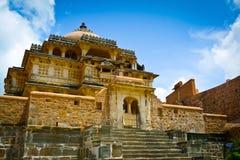 De tempel van het Kumbhalgarhfort stock fotografie