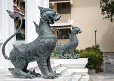 De Tempel van het leeuwstandbeeld Stock Fotografie