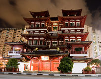 De Tempel van het Overblijfsel van de Tand van Boedha in Singapore royalty-vrije stock foto