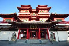 De Tempel van het Overblijfsel van de Tand van Boedha in Singapore stock afbeelding