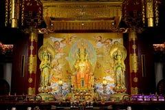 De Tempel van het Overblijfsel van de Tand van Boedha, Singapore stock fotografie