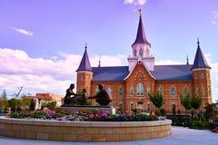 De Tempel van het de stadscentrum van LDS Provo Royalty-vrije Stock Fotografie