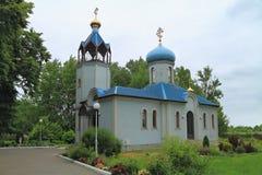 De tempel van het Vladimir-pictogram van de Moeder van God in de regeling Donskoe Royalty-vrije Stock Afbeeldingen