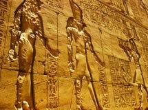 De Tempel van Horus in Edfu - Detail Stock Afbeeldingen
