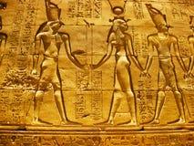 De Tempel van Horus in Edfu - Detail Royalty-vrije Stock Afbeelding