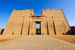 De tempel van Horus in Edfu, Egypte Royalty-vrije Stock Afbeeldingen
