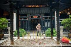 De tempel van Iam van Kun, Macao. stock afbeelding
