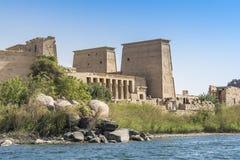 De tempel van ISIS van Philae, Aswan, Egypte Stock Afbeelding