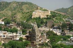 De tempel van Jain in Amber, Rajasthan Stock Fotografie