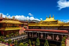 De tempel van Jokhang Stock Afbeeldingen