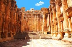 De tempel van Jupiter, Baalbek, Libanon Stock Foto