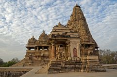 De Tempel van Kandariyamahadeva, gewijd aan Shiva, Westelijke Tempels van Khajuraho, Madhya Pradesh, India - Unesco-de plaats van  Stock Foto's