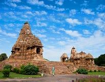 De Tempel van Kandariyamahadeva, Khajuraho, India. Royalty-vrije Stock Foto