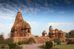 De Tempel van Kandariyamahadeva, Khajuraho, India-Unesco de plaats van de werelderfenis Stock Foto's