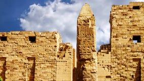 De Tempel van Karnak stock footage
