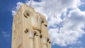 De Tempel van Karnak stock videobeelden