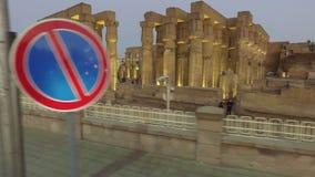 De tempel van Karnak in Luxor stock footage