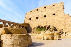 De tempel van Karnak in Luxor, Egypte royalty-vrije stock afbeeldingen