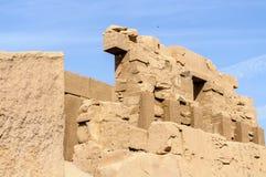 De tempel van Karnak in Luxor, Egypte stock foto