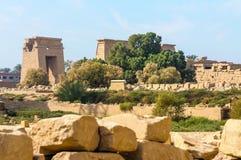De tempel van Karnak in Luxor, Egypte. stock foto's