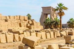 De tempel van Karnak in Luxor, Egypte. stock foto