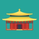 De tempel van kathedraal de Chinese churche godsdiensten van de het toerismewereld van het de bouworiëntatiepunt en beroemde oude royalty-vrije illustratie
