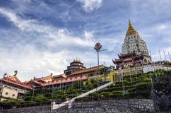 De tempel van Keklok si, in Lucht Itam in Penang, Maleisië wordt gesitueerd dat stock fotografie