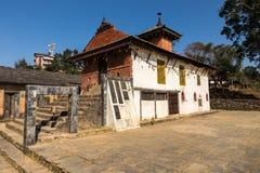 De tempel van Khadga Devi, Bandipur Stock Fotografie