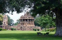 De tempel van Khajuraho Stock Foto
