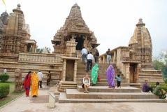 De Tempel van Khajuraho in India Stock Foto