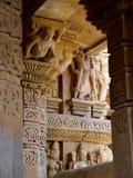 De tempel van Khajuraho. India Stock Foto