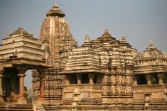 De tempel van Khajuraho van ruïnes, India Royalty-vrije Stock Afbeeldingen