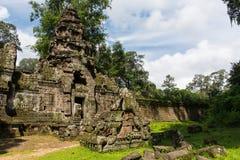 De tempel van Khan van Preah Stock Afbeeldingen