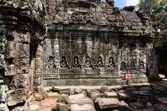 De tempel van Khan van Preah royalty-vrije stock foto