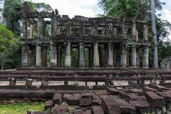 De tempel van Khan van Preah stock afbeelding