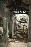 De tempel van Khan van Preah stock fotografie